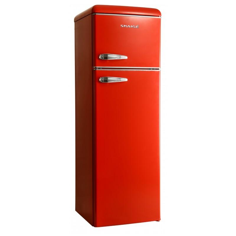 FR27SM-PRR50F3 šaldytuvas su šaldikliu viršuje Snaigė Retro FR27SM-PRR50F310ADS6XSN0X